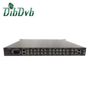 8 Channel Encoder SD Video MPEG Encoder Audio Terhubung Ke IRD1208 IP untuk AV Decoder