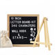 China Wholesale Customized Wooden Memo Black Felt Letter Board With Plastic Letters
