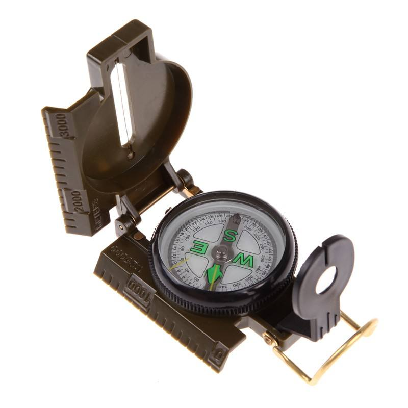 Loveslf New American Military Multi機能Outdoor Compass Army Green Portable Folding Lens Camping Hiking Compass