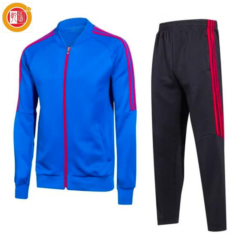 Custom Sport Wearing Jacket and Pant Set Fitness jogging Tracksuits for men
