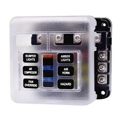 Universal Waterproof 6 Way Circuit with   LED Warning light