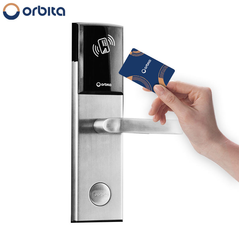 Orbita Sdk Api Electronic Keyless Entry Intelligence Zigbee Smart Key Swipe Rf M1 Card Digital Rfid Hotel Lock