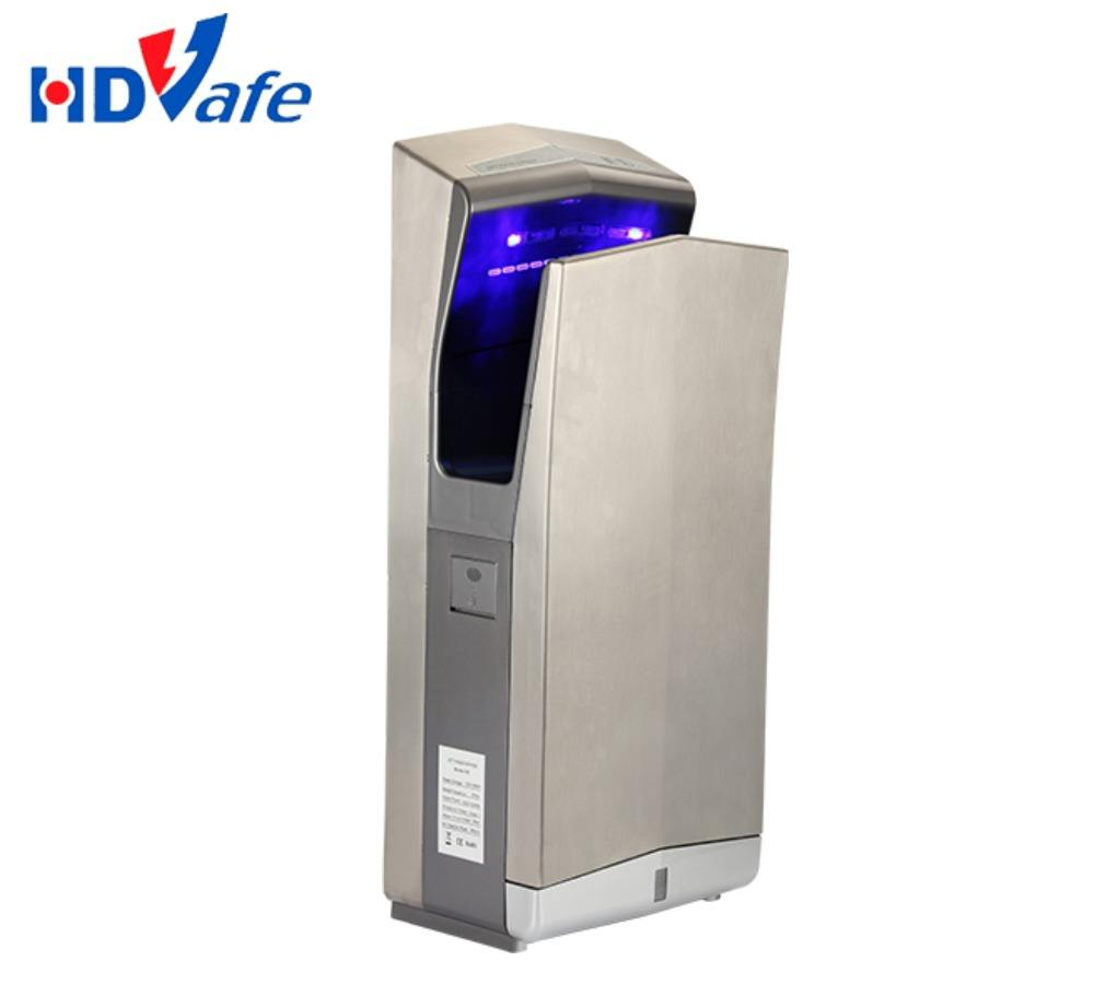 Wall Mounted Automatic UV Light Jet Air Hand Dryer with Infrared Sensor