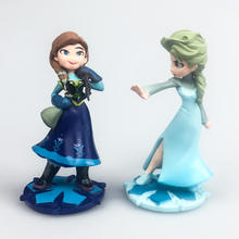 Frozen princess action figure pvc toy special for cake decorating toy kid birthday party