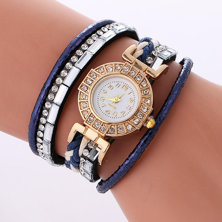 Brand Bracelet Watches For Women Luxury Silver Crystal Clock Quartz Watch Fashion Ladies Vintage Creative Wristwatches WW174