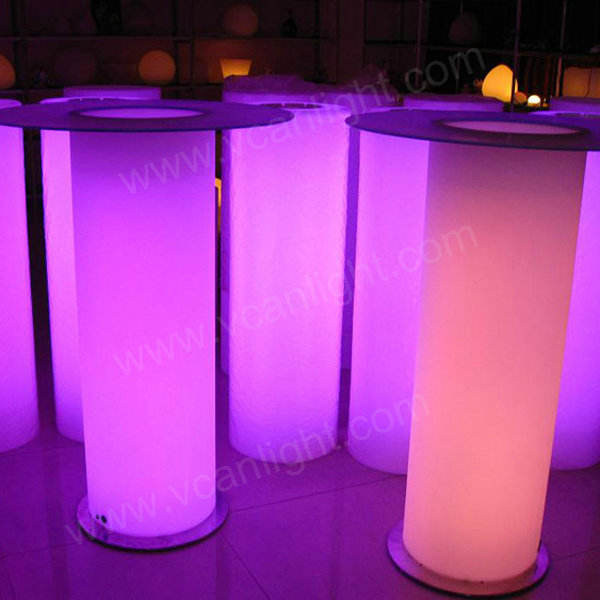 Lithium battery Led light wholesale cocktail tables rectangular party cocktail tables