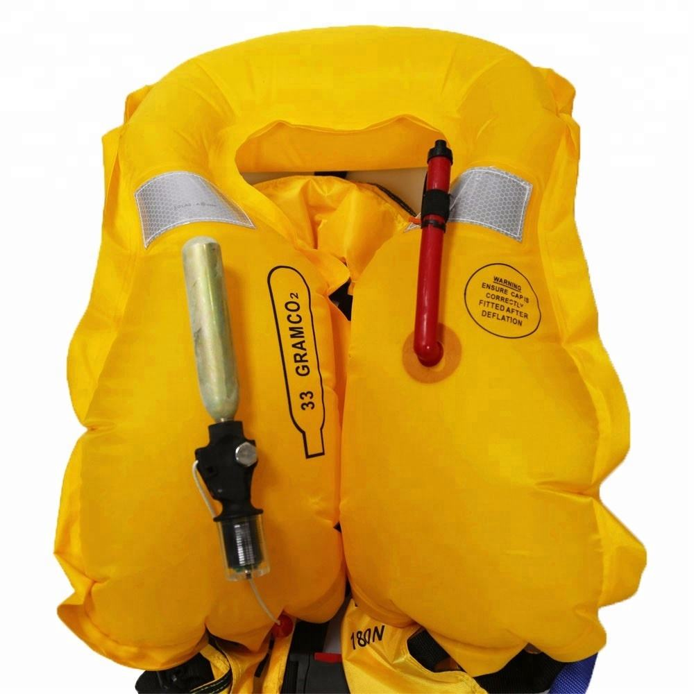 150N Marine Solas CO2 Inflatable Life Jacket Vest