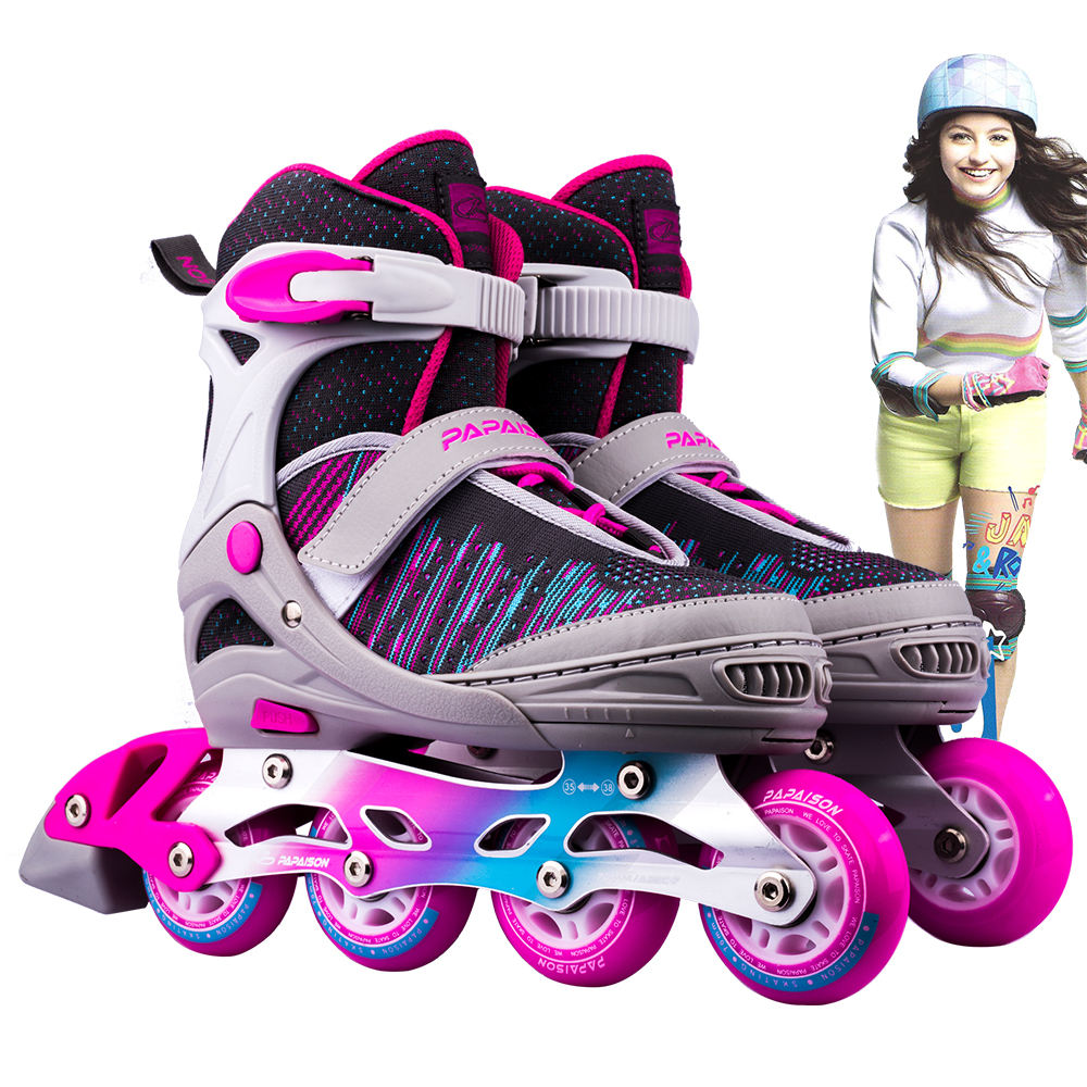 Pink Orange Blue black color womens girls professional Outdoor inline roller skates wholesale Zhejiang Supplier