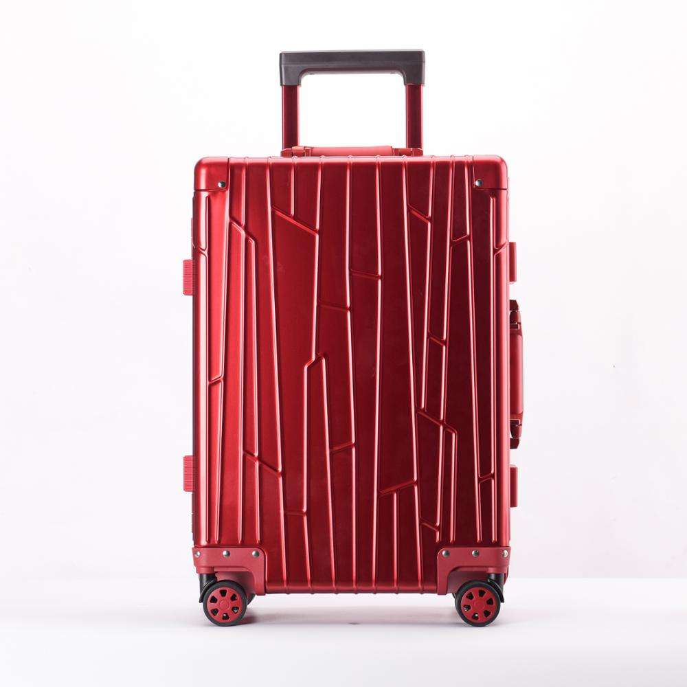 Red Trolley Travel Luggage Case