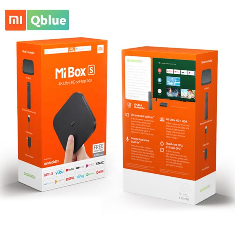 Nieuwe Generatie Xiaomi Mi Smart TV Box S 4 K Google Quad Core Android 8.1 Set Top Box