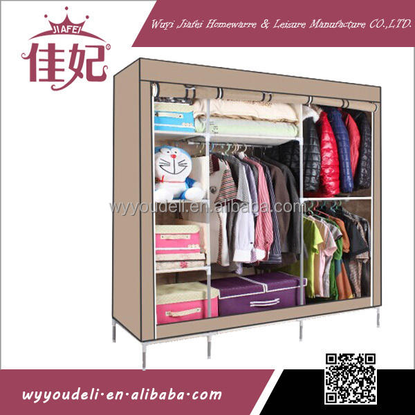 2016 High quality Cheap Fabric non-woven foldable bedroom wardrobe