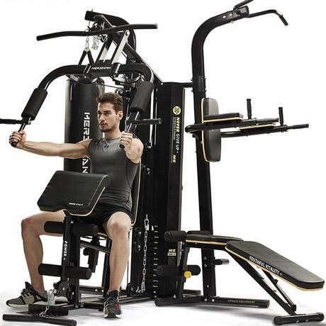 Full body exercise multi station home gym 3 station multi gym fitness machine equipment