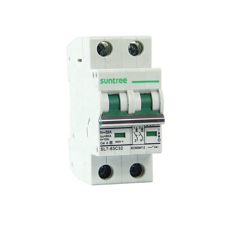 DZ47-63//4P C20A DIN Rail Mount Circuit Breaker Miniature Circuit Breaker 4P 20A
