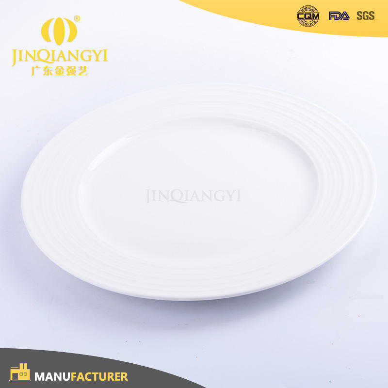 Top Grade Promotional thick white porcelain ceramic dinner side plate