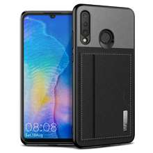 Infiland Soft TPU Protective Case Cover with Credit Card Holder compatible with Huawei P30 Lite Phone