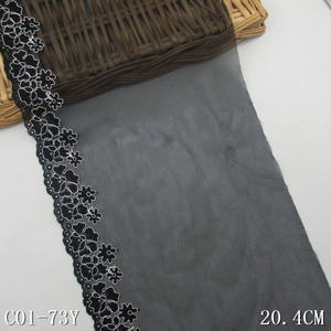 Black lace fabric 20.5cm/8