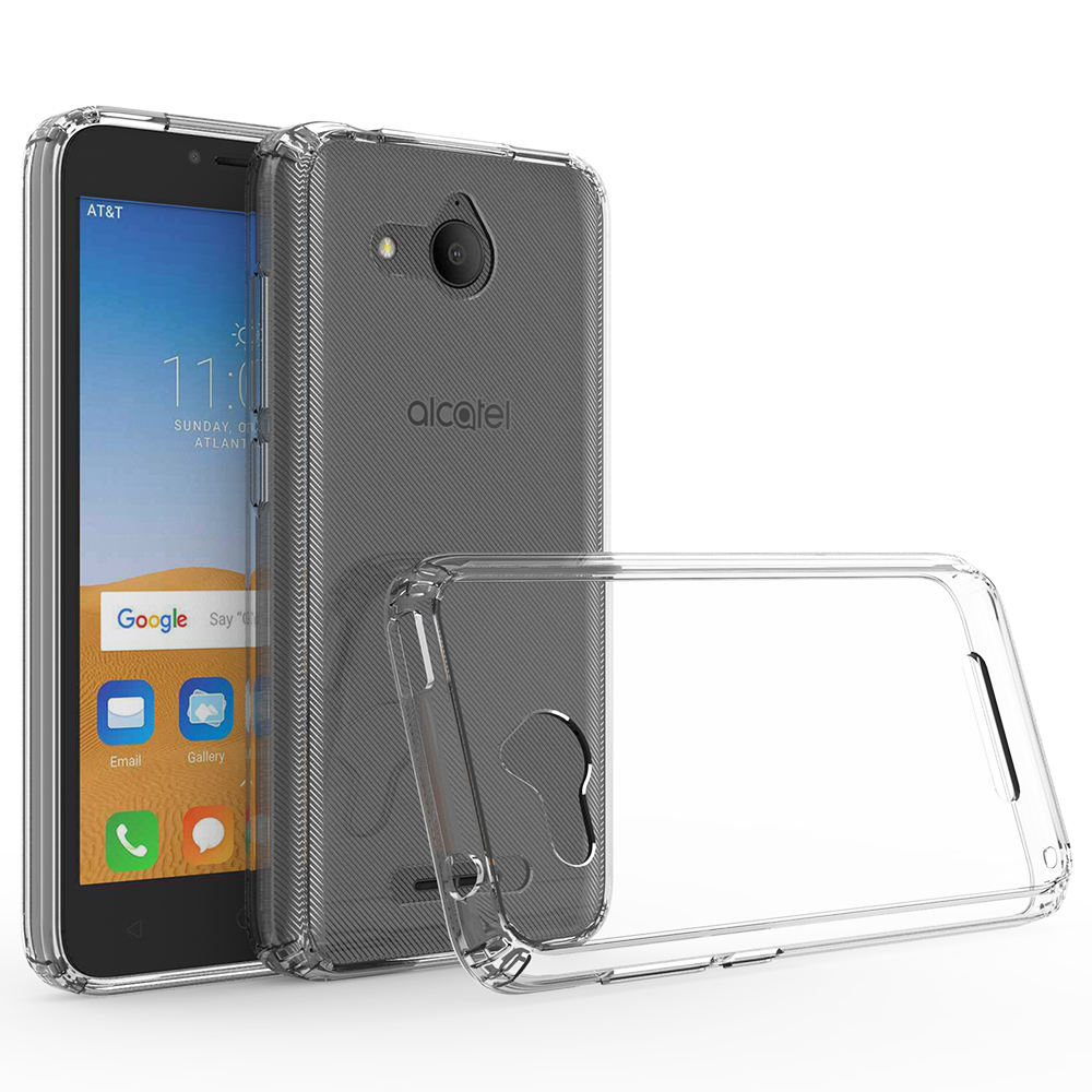 Atacado Crystal Clear Bumper Híbrido Back Cover Caixa Do Telefone para <span class=keywords><strong>Alcatel</strong></span> <span class=keywords><strong>Tetra</strong></span>