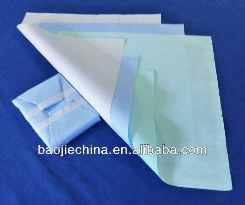 Medical colorful packing crepe paper for china factory