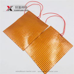 Miniaturization etched foil polyimide film heater for car oil pan
