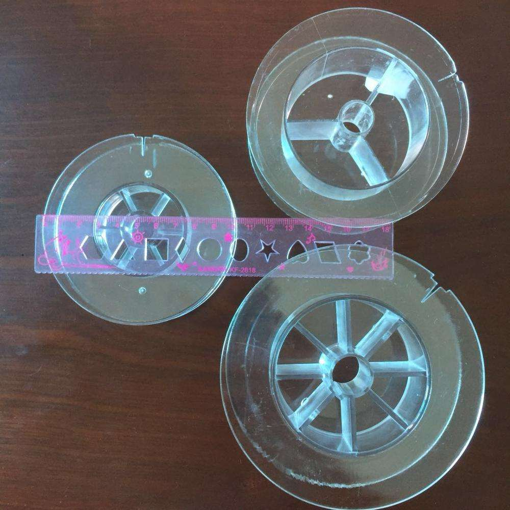 clear/Transparent Color and empty spool for fishing lines plastic empty wire spool