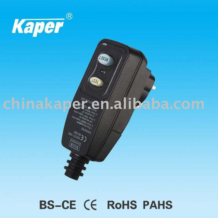 Rcdซ็อก( kppr- 10- bp) 250v, 50hz, 10a, ip54,