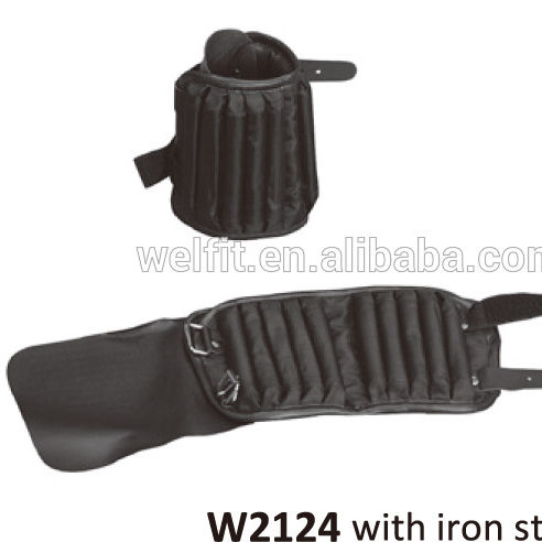 Neoprene sports ankle/wrist weights with iron sticks