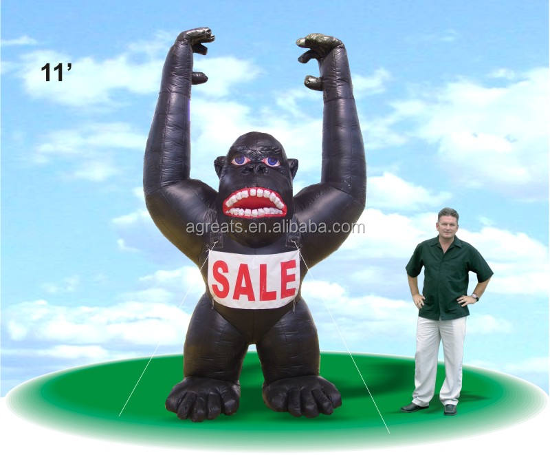 Black giant inflatable gorilla balloon for advertising S2052