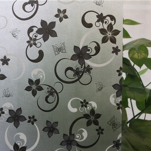 PVC Stained Glass Film 5M Length Waterproof 60cm Frosted Privacy Home Bedroom Bathroom Window Glass Film Sticker Home Decorate