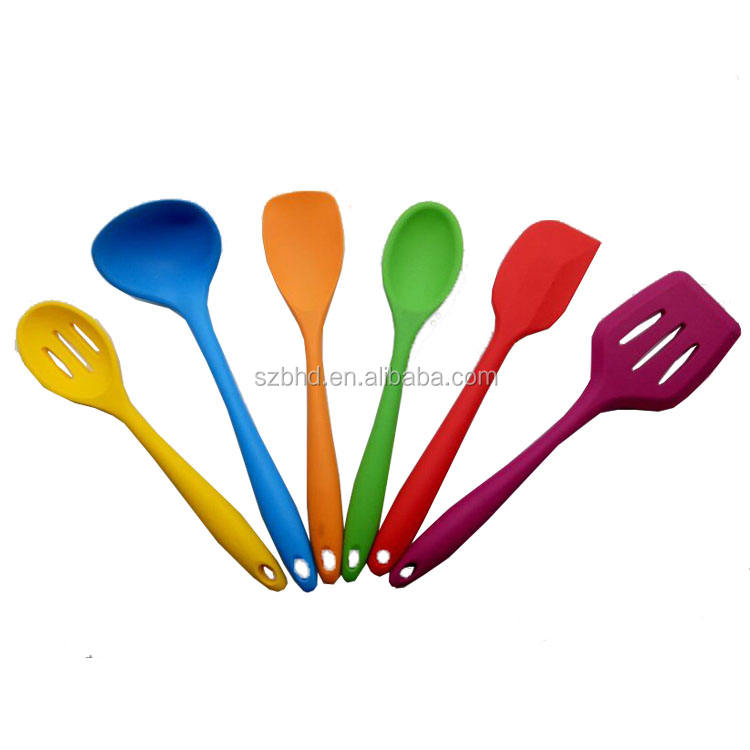 5pcs/Set FDA Approved Silicone Cooking Tools names of kitchen utensils