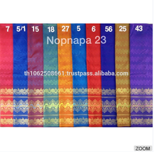 Lot of 10 Thai Synthetic silk fabric for women dress SKIRT Sarong # Nopnapa 23