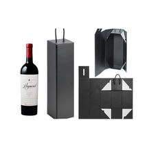 New Products Low Price Custom Logo Luxury Recycled Folding Wine Paper Gift Box