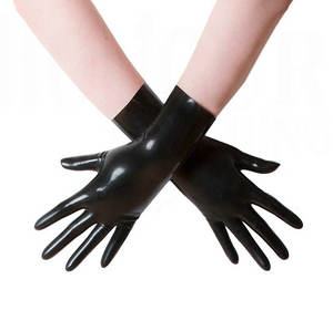 China manufacturer breathable top colored cheap long elbow length fetish rubber latex gloves handjob Sexy Costumes
