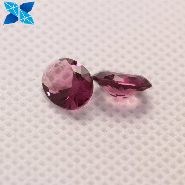 Customized gems Fake diamond any size light phodolite color oval cut glass stone