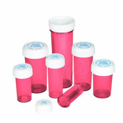 Reversible Cap Bottle Pharmacy Prescription Vials Containers In Pink PP Child Resistant Vials