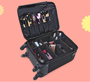 Makeup Artist Luggage Large Fabric Trolley Professional Makeup Bag