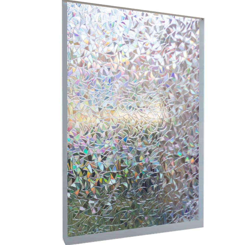 Rainbow Decorative Window Film for Home and Office Anti UV Heat Control 45cm*2m