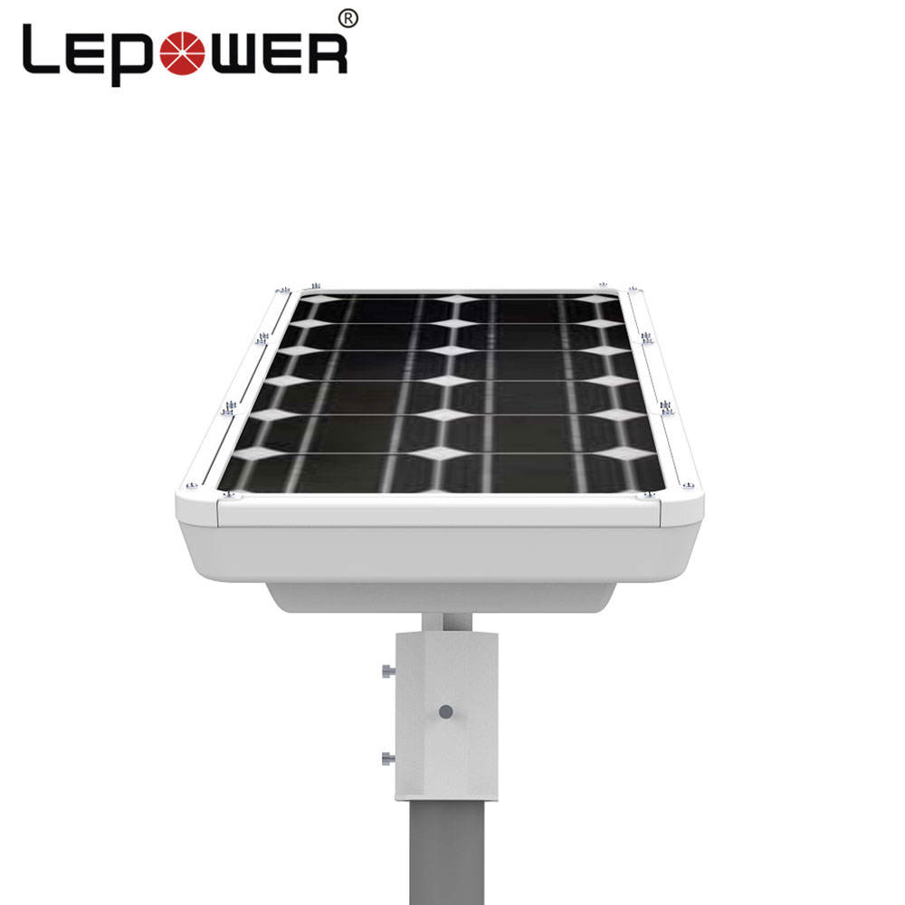TOP 10 brand 160lm/w garden solar street light 40watt with photocell sensor