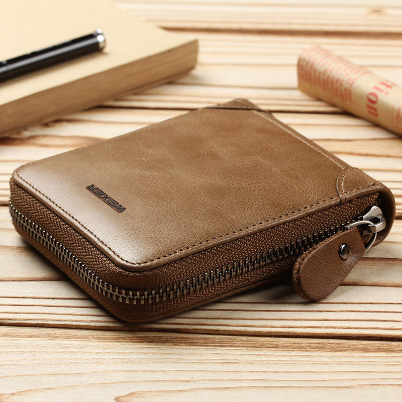 Hot selling fashion mens wallet vintage purse PU leather travel wallet