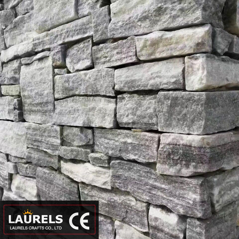 Gray Quartz Stone Natural Culture Stone for Wall Cladding and Facada