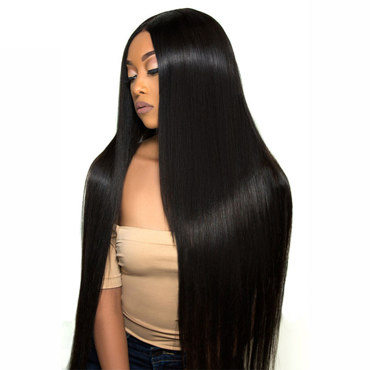 Wholesale Price Long Straight 360 Lace Frontal Wigs Naturelle Raw Virgin Brazilian Human Hair Wig 360