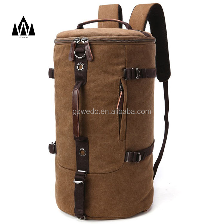 Men's Backpack Shoulder Bag Canvas Sports Outdoor Tourist Travel Duffle Bag Super - Large