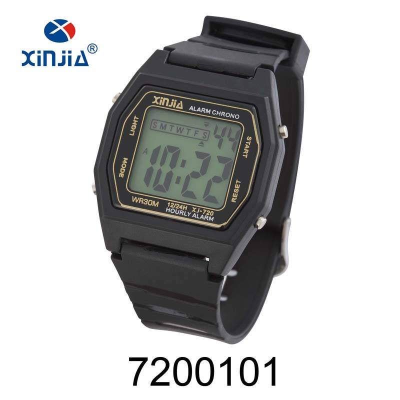 Promotional Cheap Thin Digital Watch Boys/Mens Plastic Sport LCD Digital Wrist Watch Men
