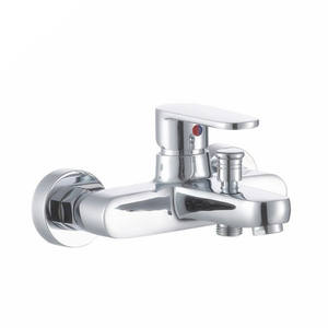 Wholesale 2018 Popular Upc Brass Chrome Or Stainless Bathroom Wall Mouted Mixer Bathtub Bath Shower Faucet Tap Good Price.