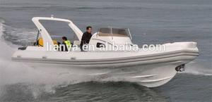 Liya 27ft china semi- rígido barco inflable yates de motor eléctrico para la venta del fabricante