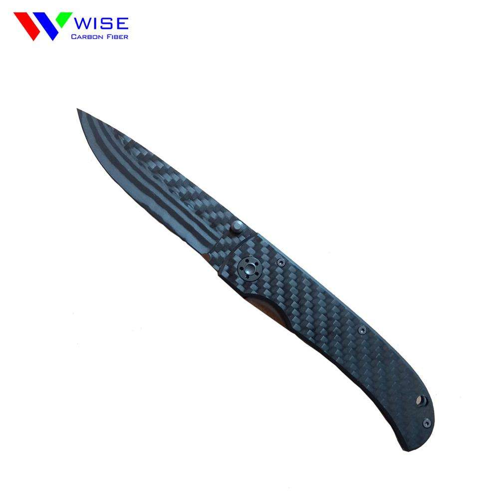 OEM 3K Plain Carbon Fiber Folding Knife