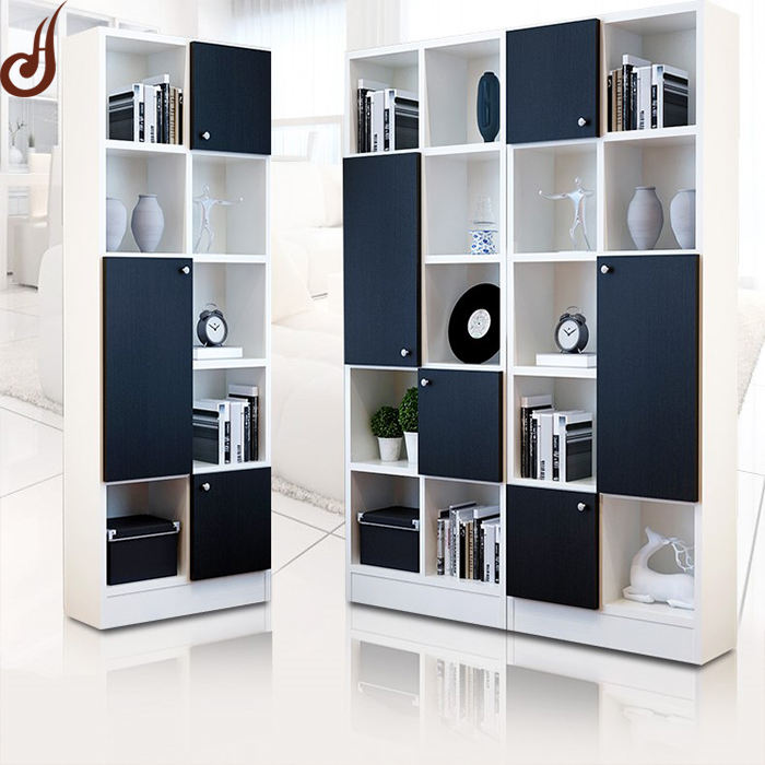 Useful design customized size PD FR-MDF material library book shelf