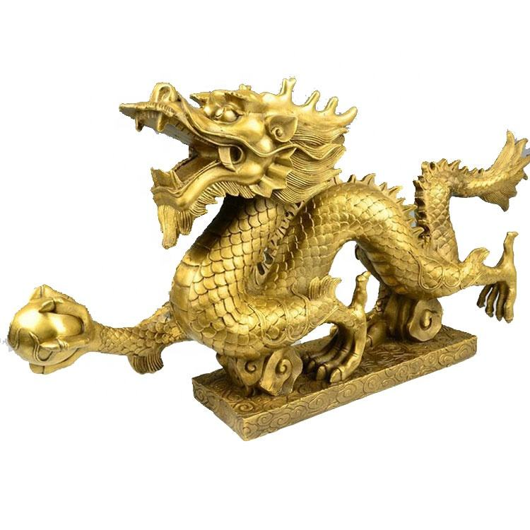 2019 new products Life size antique metal cast bronze dragon sculpture for outdoor