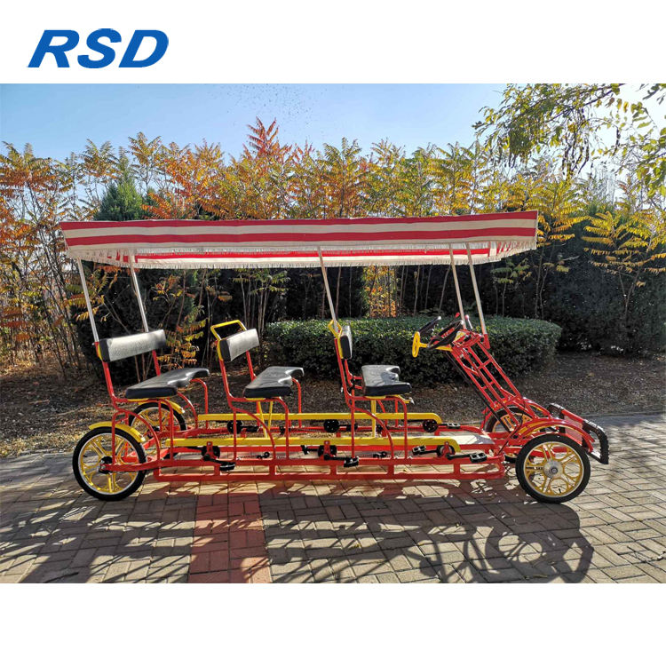 New model RSD tandem bike bicycle,6 person bike tandem beach cruiser bike made in Tianjin ,4-wheel 4person tandem bike