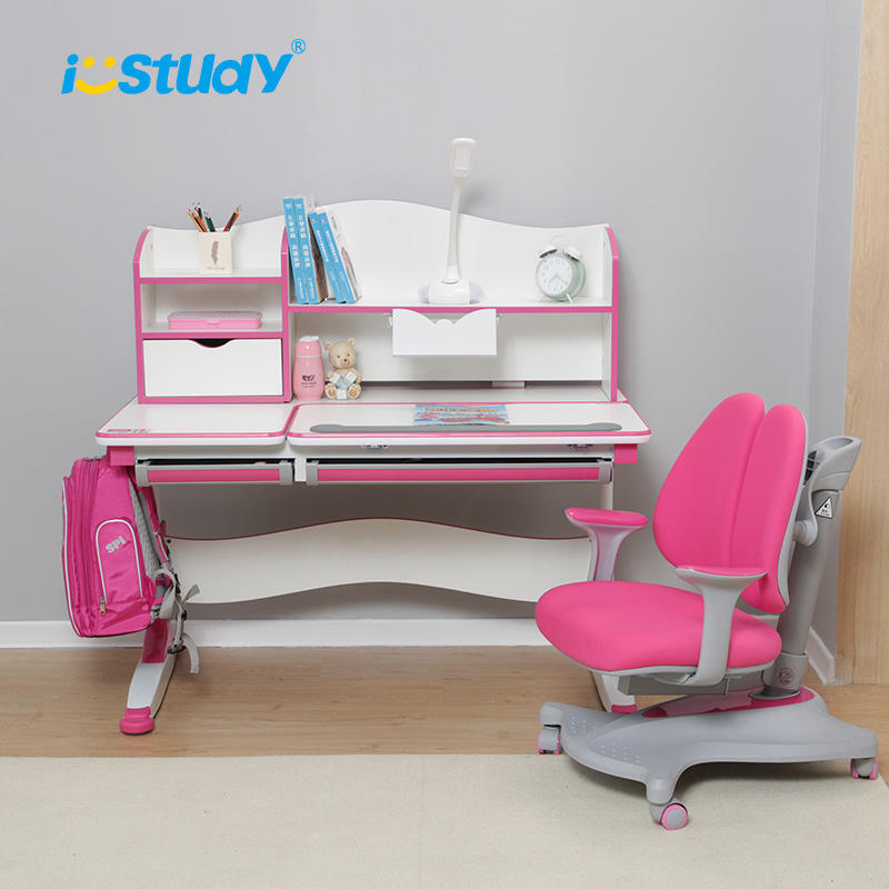 Istudy Wooden kids study table chair with ergomic design