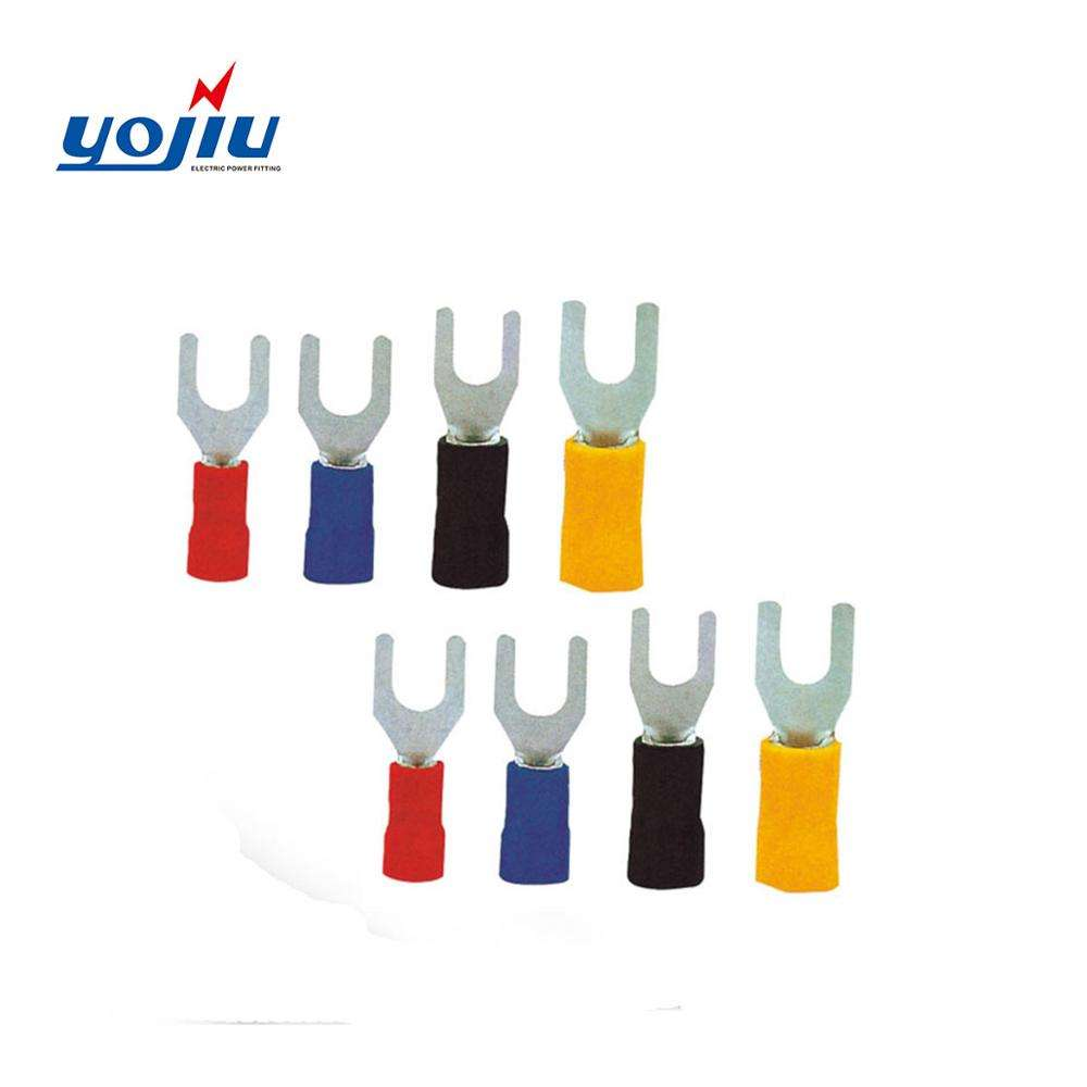 Spade terminal fork SV block plastic solder sleeve insulated cord end terminal crimp wire connectors